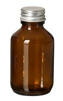 Glasflasche braun, mit Schraubverschluss