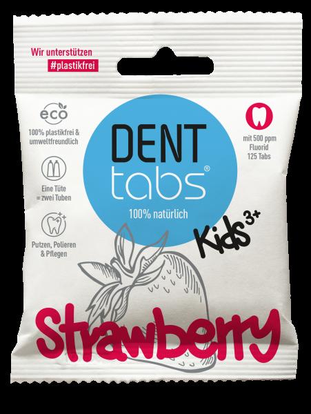 Denttabs Zahnputztabletten Kids, mit Erdbeergeschmack