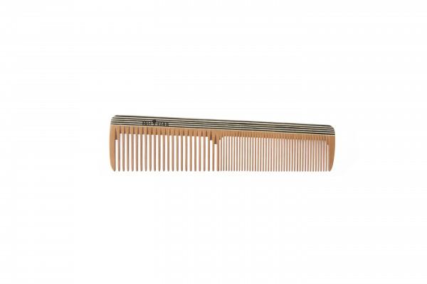 Frisierkamm, Holz bunt, mittel-fein, 18 cm