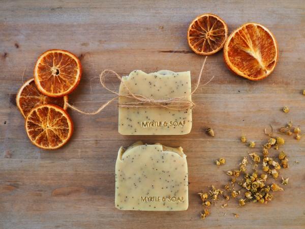 Piece of Cake, Naturseife mit Orange, Bergamotte & Kamille, 100 g