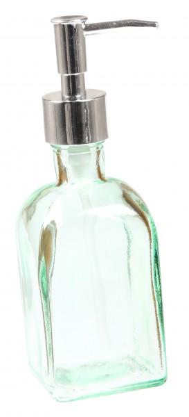 Seifenspender aus recyceltem Glas, transparent