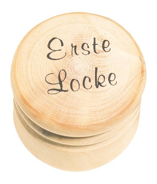 """Holzdose """"Erste Locke"""""""