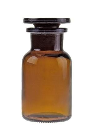 Apothekerflasche braun, 10m ml mit Glasstopfen