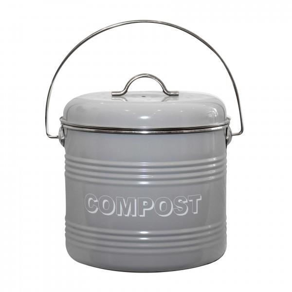 """Komposteimer """"Home Sweet Home"""", grau"""
