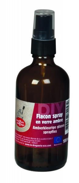 Glasflasche braun, mit Sprühaufsatz, 100 ml