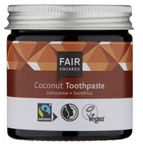 Zahncreme Coconut (mit Fluorid), 100 ml im Glas