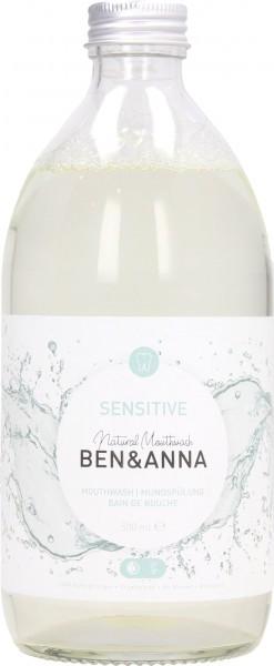 Ben&Anna Mundwasser Sensitive, 500 ml im Glas
