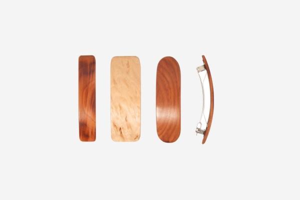 Haarspange aus Naturholz, Schließe 8 cm