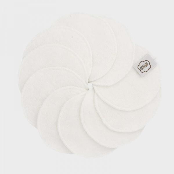 Abschminkpads, 10 Stk., weiß