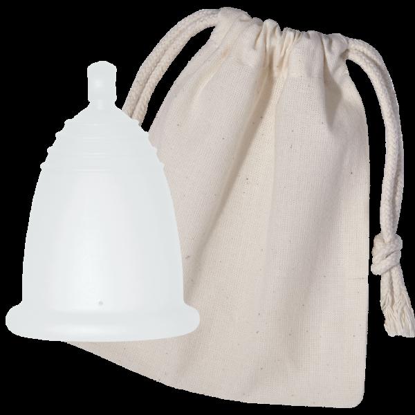 Menstruationstasse CLASSIC, im Baumwollsäckchen