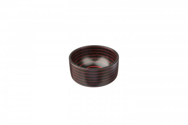 Rasier-Seifenschale, Schichtholz, schwarz-rot