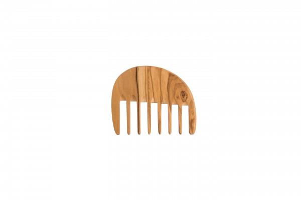 Lockenkamm klein, Olivenholz, extra breit, 10 cm